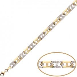 Pulsera oro bicolor PU1080